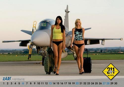 09年美女版战机挂历