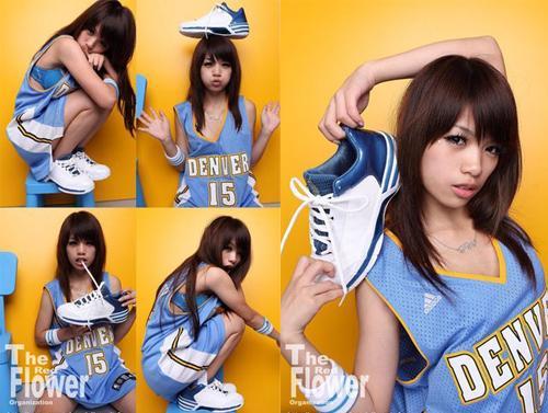 篮球美少女绝配nba球衣