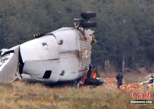 印度空军一架mi-26直升机坠毁