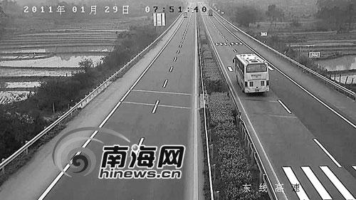 海南高速路上设视频监控设备 交通违法将被抓拍