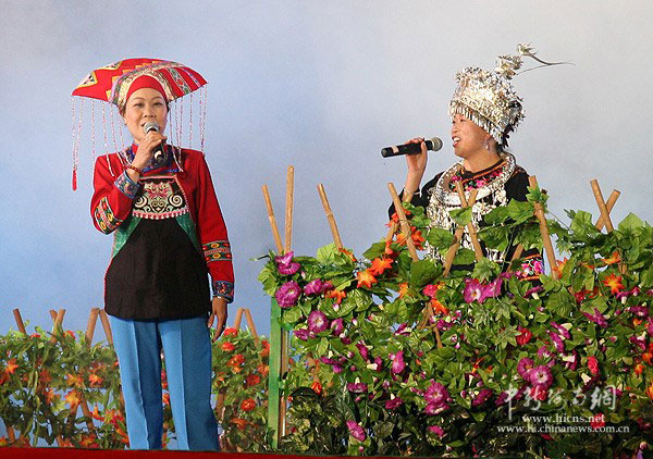 海南 琼中/图为广西原生态民歌《赞歌一曲唱琼中》。吴天军/摄