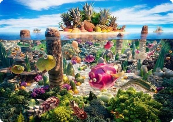 絕美蔬菜水果風景畫(3)