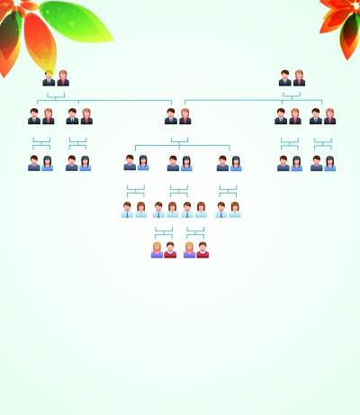 家庭结构亲属关系图