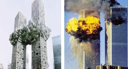 韩新建筑酷似纽约遇袭双子塔