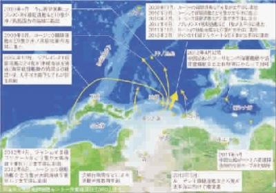 朝鲜到关岛的地图