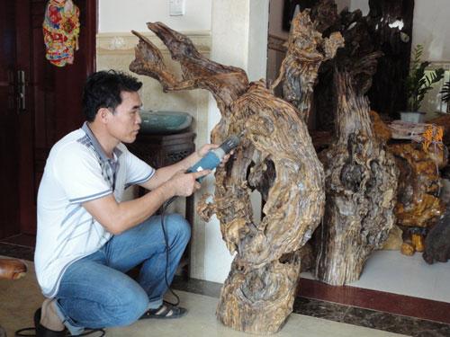 磨着把根雕艺术做大