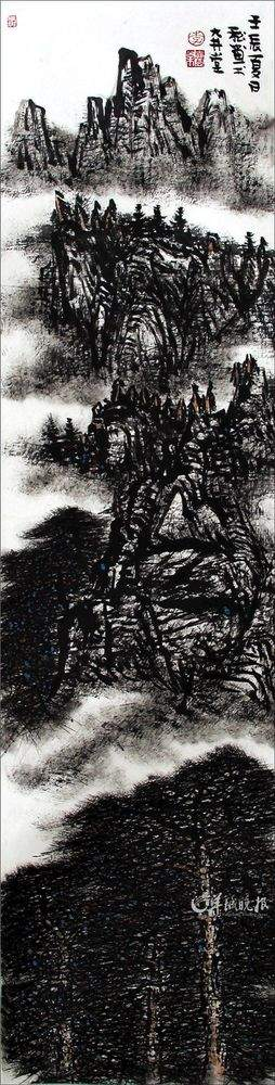 """""""并开始亲自指点他如何画好松树的细节.   细节从哪里来?"""