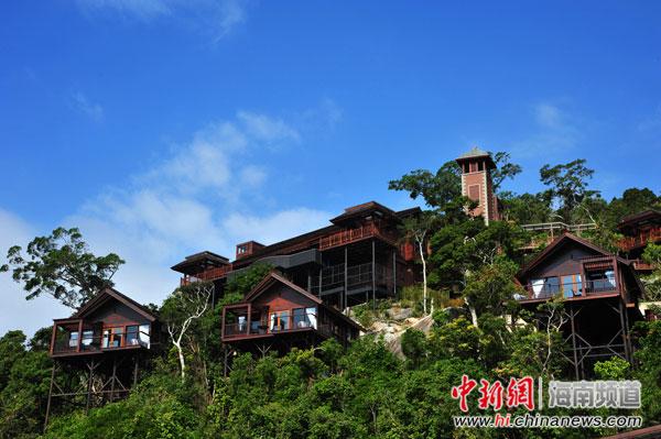 天堂森林旅游区人间天堂鸟巢度假村拍摄森林山地度假酒店风光宣传片.