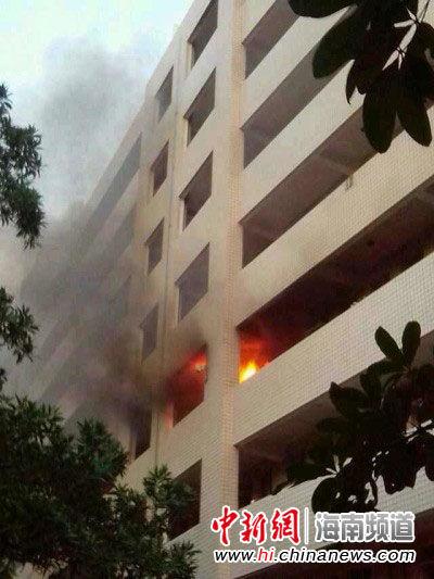 海南师范大学发生火灾 一名保安受伤