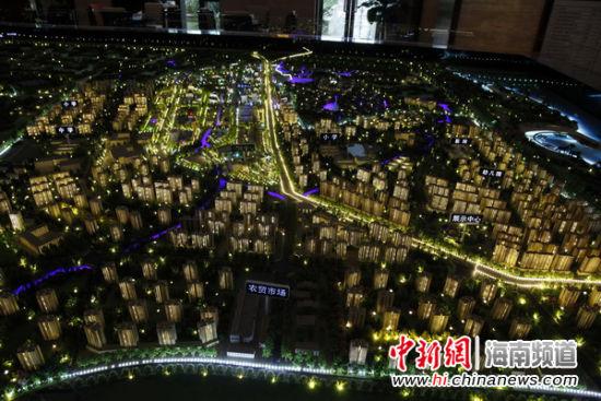 海口灵山空港新城项目规划图.吴天军摄-海口联合绿地打造 琼北到城