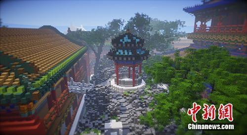 虚拟故宫中的景色。受访者供图