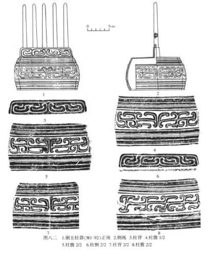 《屯溪土墩墓发掘报告》中对五柱器的介绍。图片来源:《屯溪土墩墓发掘报告》