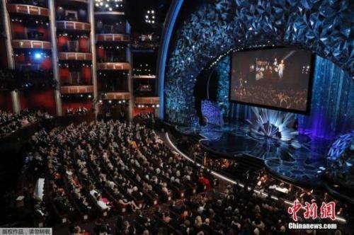 资料图:第90届奥斯卡颁奖礼现场