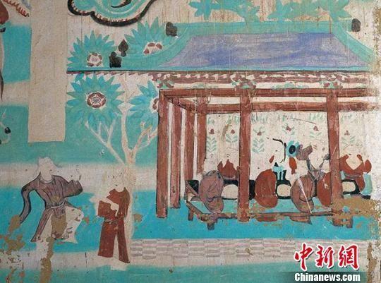 图为莫高窟第146窟—饮宴图(五代)。敦煌研究院供图