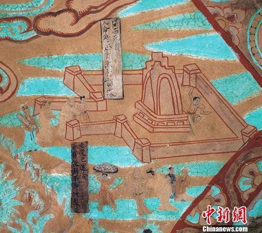 图为莫高窟第454窟—墓园(宋)。敦煌研究院供图