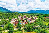 鸟瞰保亭布隆赛乡村文化旅游区