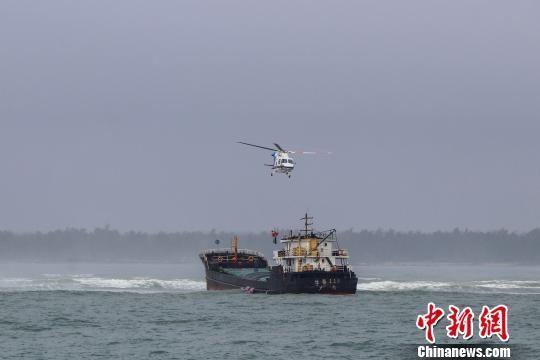 货船海南文昌海域搁浅 6名遇险船员成功获救