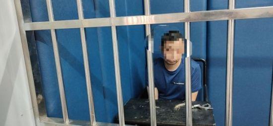 犯罪嫌疑人付某被抓获。警方供图
