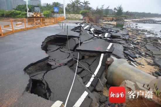 海口多处海岸线近期遭严重侵蚀 原因为何