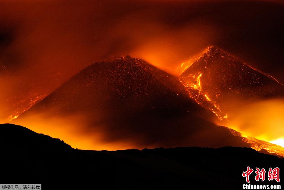 歐洲最高活火山噴發 3