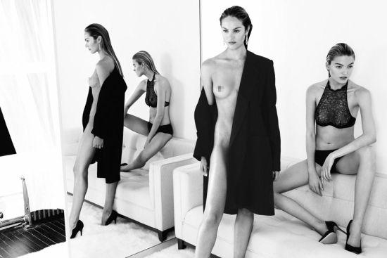 超模坎迪斯全裸大片黑白美女摇视频图片