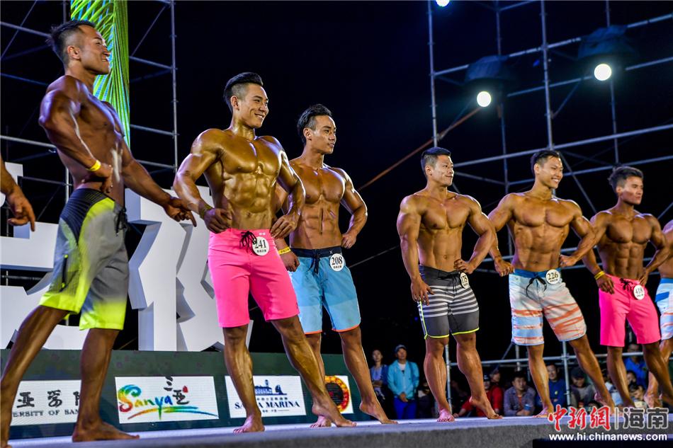 2017三亚沙滩国际小姐健美比基尼先生v沙滩总朗视频gs威