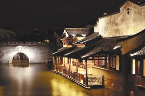 中国风古典石桥建筑花纹