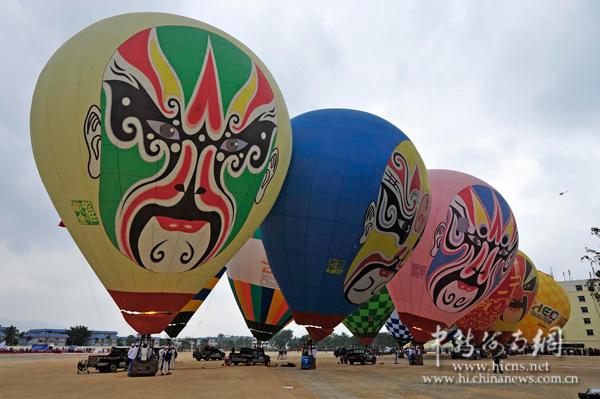 脸谱热气球亮相兴隆 旅游加入京剧元素图片
